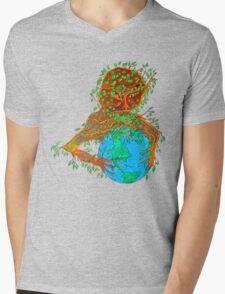 The Earth Hugger Mens V-Neck T-Shirt