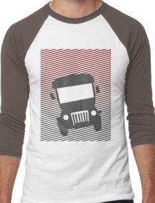 Philippine Jeepney Abstract  Men's Baseball ¾ T-Shirt