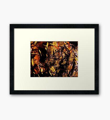 sunlight.... bamboo forest  Framed Print