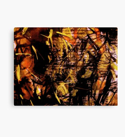sunlight.... bamboo forest  Canvas Print