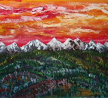 Foothills to Banff by James Bryron Love