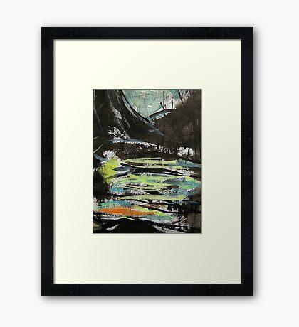 pass....near side swamp Framed Print