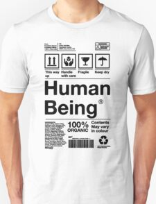 Human Being - Black Text T-Shirt