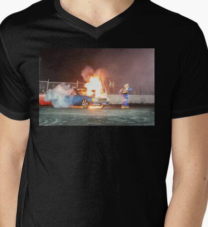 CLIFV8 Light Up Mens V-Neck T-Shirt