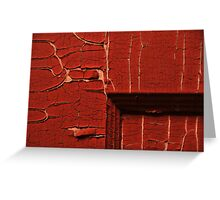 Red Squared Greeting Card