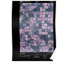 USGS Topo Map Washington State WA George 20110425 TM Inverted Poster