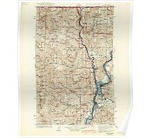 USGS Topo Map Washington State WA Marcus 242186 1942 125000 Poster
