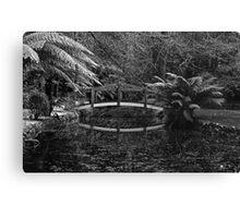 bridge in b/w Canvas Print