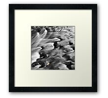 Playing around in the creek Framed Print