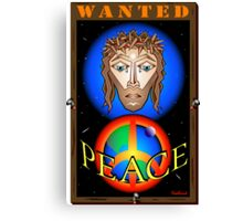 WANTED JESUS Canvas Print