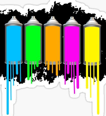 Spray Cans (Dripping) Sticker