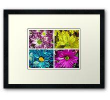 Floral collage Framed Print