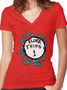Elder Thing 1 Women's Fitted V-Neck T-Shirt
