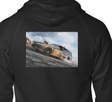 QUIET1 Burnout Zipped Hoodie