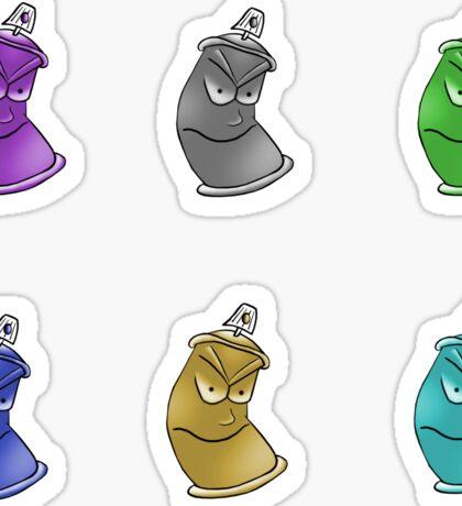 Spray Cans Sticker