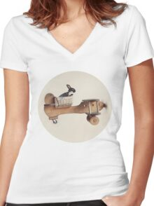 Hare Force Women's Fitted V-Neck T-Shirt