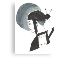 Moonlight Samurai Canvas Print