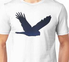 Bird Silhouette 1: Night, with Shadow Unisex T-Shirt