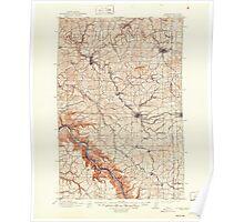 USGS Topo Map Washington State WA Pullman 243308 1910 125000 Poster