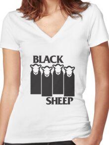 Black Sheep Women's Fitted V-Neck T-Shirt