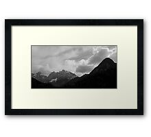 Kranjska Gora in black and white Framed Print