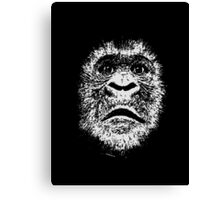 Black and White Face Of A Gorilla Canvas Print