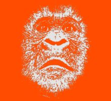 Black and White Face Of A Gorilla Kids Tee