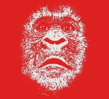 Black and White Face Of A Gorilla One Piece - Short Sleeve