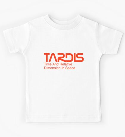 NASA Worm Logo TARDIS Kids Tee