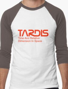 NASA Worm Logo TARDIS Men's Baseball ¾ T-Shirt