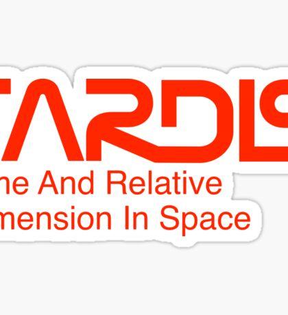NASA Worm Logo TARDIS Sticker