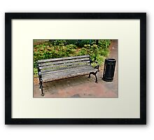 have a sit and a smoke Framed Print