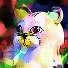 Comic Cat by Darlene Lankford Honeycutt