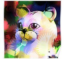 Comic Cat Poster