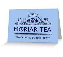 MoriarTea 2 Blue Ed. Greeting Card