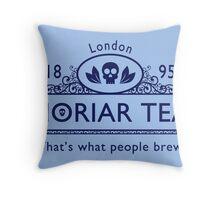 MoriarTea 2 Blue Ed. Throw Pillow