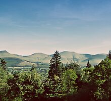 the galtee mountains on a sunny day by Gregoria  Gregoriou Crowe