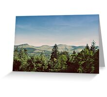 the galtee mountains on a sunny day Greeting Card