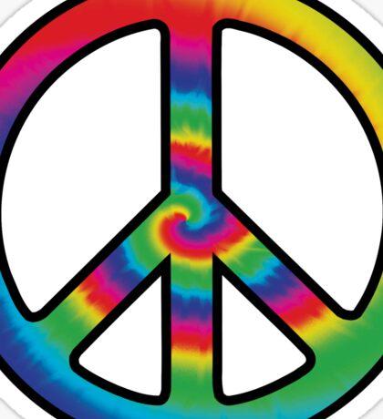 Tie-dye (peace symbol) Sticker