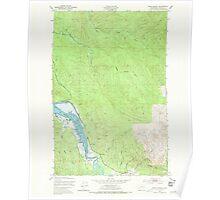 USGS Topo Map Washington State WA Oman Ranch 242955 1949 24000 Poster