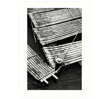 Boatman Mono, Yangshuo, China Art Print