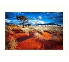 Dancing Grasses on the Red, Red Earth Art Print