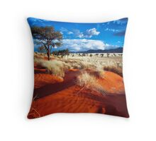 Dancing Grasses on the Red, Red Earth Throw Pillow
