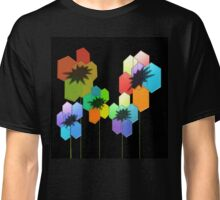 Geometric Poppies Classic T-Shirt
