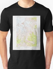 USGS Topo Map Washington State WA Mt Rainier East 242654 1971 24000 Unisex T-Shirt