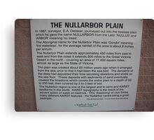 Nullarbor Information Canvas Print