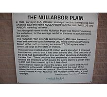 Nullarbor Information Photographic Print