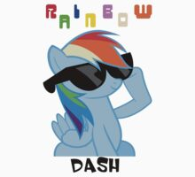 Rainbowdash Shades T-Shirt by Megavip