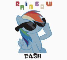Rainbowdash Shades T-Shirt Kids Tee
