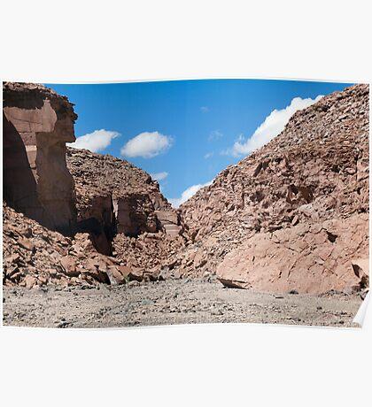 Quezala Canyon, Atacama Desert, Chile Poster
